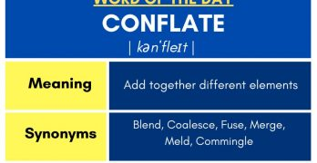 Conflate - Meaning, Synonyms, Antonyms, Usage