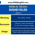 Disheveled – Meaning, Synonyms, Antonyms, and Usage
